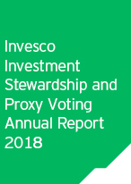 Invesco Investment Stewardship and Proxy Voting Annual Report 2018
