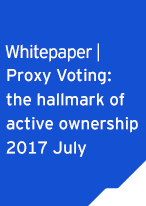 Whitepaper Proxy Voting: the hallmark of active ownership 2017 July